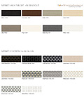All fabric samples and woven woods brochure