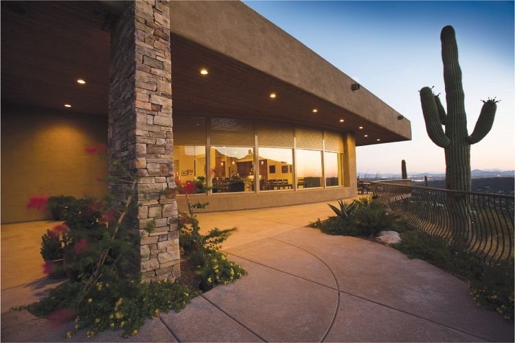 Exterior Shades offer great protection while maintaining views.