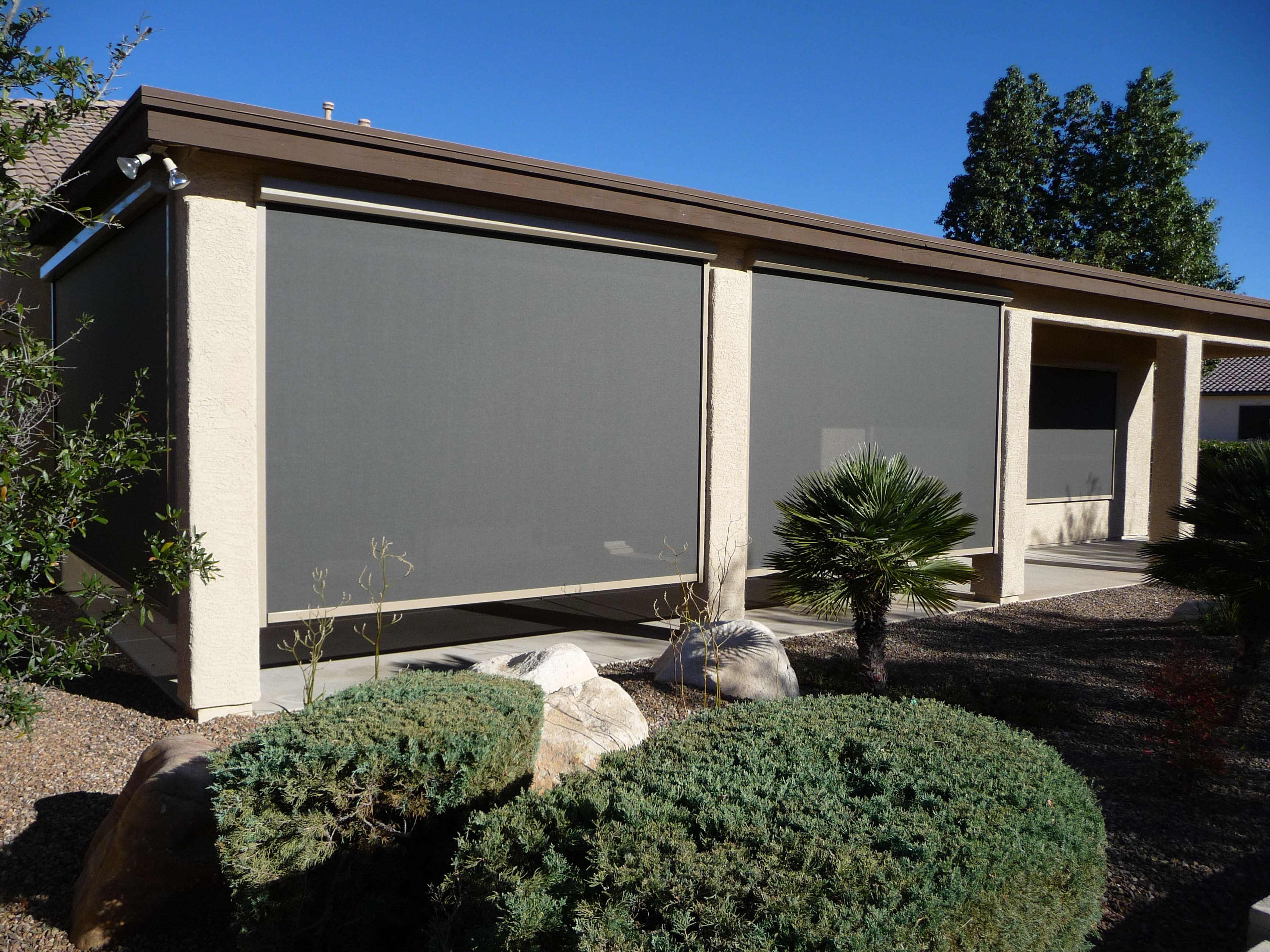 Exterior Shades offer energy efficiency and sun protection.
