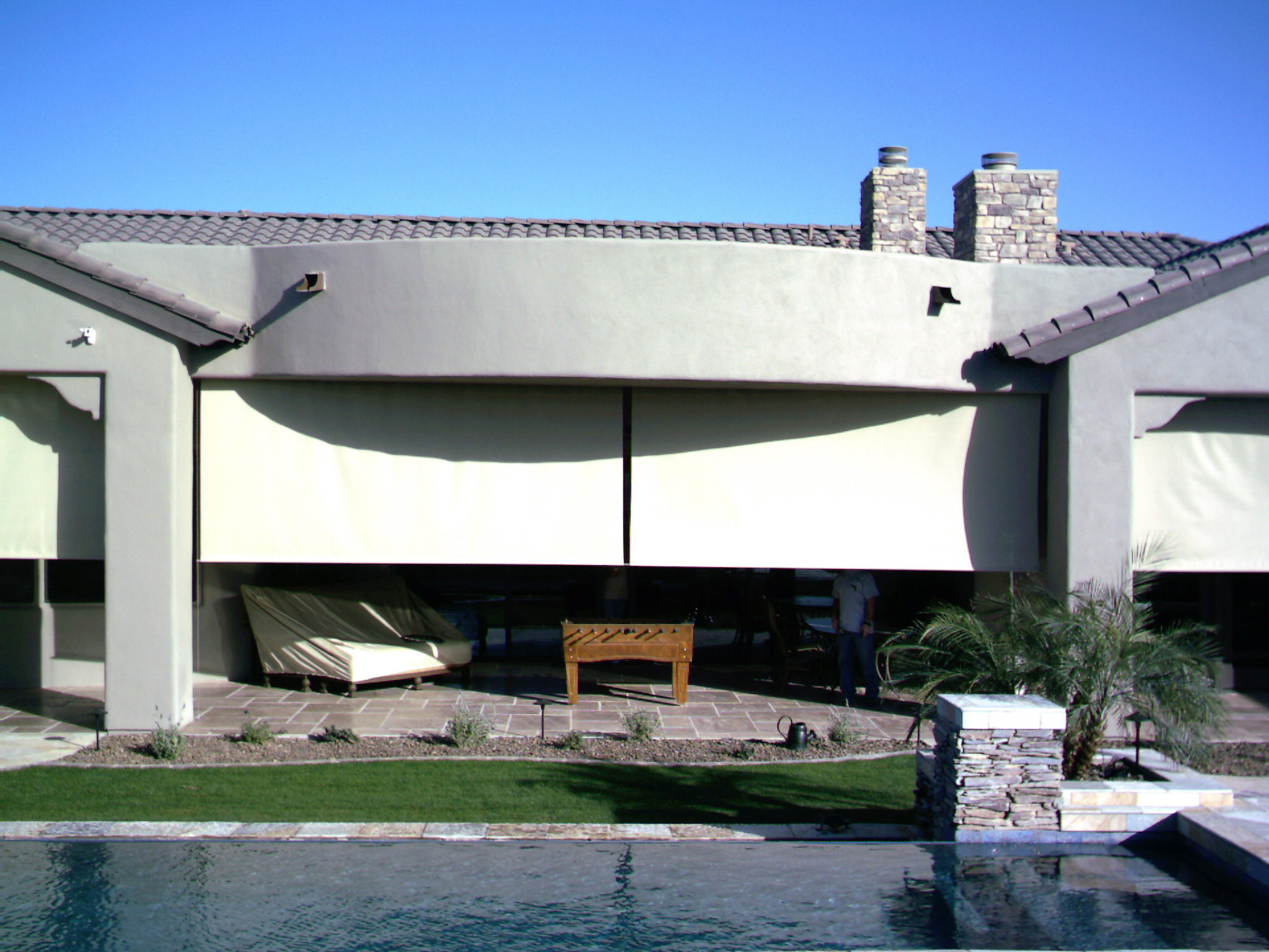 Exterior Shades provide security and privacy.